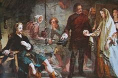 Bonnie Prince Charlie and Flora MacDonald (South Uist) : Painting by A. Johnstone