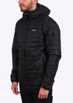Patagonia Nano Puff Hooded Jacket - Black - Patagonia from Triads UK