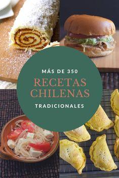 Más de 350 recetas chilenas tradicionales. Comida casera de Chile. Siempre estamos agregando más. #recetachilena #enmicocinahoy Chilean Recipes, Chilean Food, Slow Cooker Recipes, Cooking Recipes, Slow Cooking, Salty Foods, Tasty, Yummy Food, English Food
