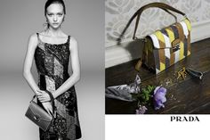 Prada, B-: Once the initial excitement of Gemma Ward's casting wore off, so did much of the appeal of this campaign. (However, bonus consideration was given to the inclusion of Julia Nobis and some colorful still-life product shots.)