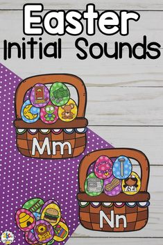Are you looking for an engaging Easter literacy center? This Easter Egg Beginning Sound Sort Activity is a hands-on way to practice identifying initial sounds. Your students will have fun sorting and matching the beginning sounds to the letter and filling the basket with eggs. This resource includes 26 Letter Easter Baskets in 2 different styles and 128 Easter Eggs. Click on the picture to learn more about this Easter egg themed initial sound sorting activity! #beginningsounds #initialsounds