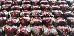 TheSilver&Red Blood Hearts www.alicebentleychocolates.com
