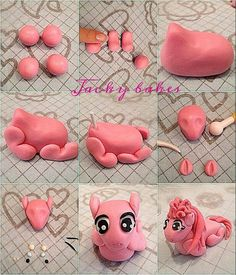 Pinkie Pie Little Pony Picture Tutorial - For all your cake decorating supplies, please visit craftcompany.co.uk