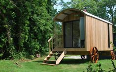 Edyn, a Contemporary Shepherd's Hut available to book as a Bed & Breakfast