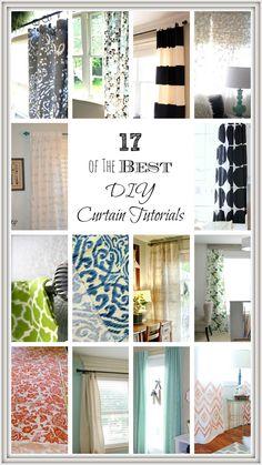 DIY Curtain Ideas and Tutorials
