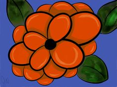 Orange Flower #madewithpaper