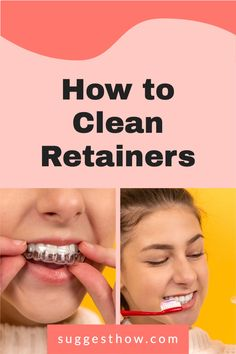 Retainers sits inside your mouth so you'll want to know how to clean retainers to remove plaque and odor-causing bacteria. Find out the best ways for how to clean your retainers and Invisalign aligners at home. You can get rid of the white buildup (plaque), and remove the bad smell of retainers with these 2 easy soaks. With more helpful tips & DIY retainer cleaner recipes. #invisalign #invisaligntray #howto #braces #deepclean How To Clean Retainers, Clear Retainers, Deep Cleaning Tips, Cleaning Hacks, Retainer Cleaner, Yoga For Flat Belly, Nail Care Tips, Orthodontics