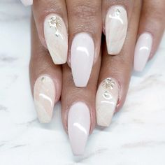 Perfect Coffin Acrylic Nails Designs to Sport This Season ★ See more: https://naildesignsjournal.com/coffin-acrylic-nails-perfect-designs/ #nails