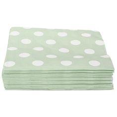 Servett KALAS grön. 30-pack. 30-pack servetter. 3-lager. Finns i flera färger och mönster.