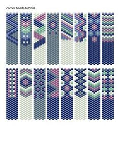 Carrier Bead Tutorial This is an odd count peyote stitch pattern made with Miyuki Delicas size 11 beads Colors: 6 You are buying a PATTERN. Peyote Beading Patterns, Peyote Stitch Patterns, Seed Bead Patterns, Beaded Bracelet Patterns, Loom Beading, Beading Projects, Beading Tutorials, Bead Loom Bracelets, Bead Weaving