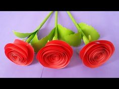 How to Make Rose Flower With Colour Paper !!!! - YouTube