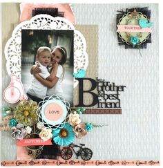 B is for brother layout by Amanda Baldwin for Imaginarium Designs
