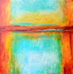 Key West Memories - Original Abstract Painting by Texas Contemporary Artist Filomena de Andrade Booth, painting by artist Filomena Booth