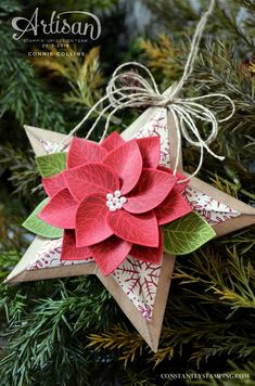 Thoughtful Branches Star Ornament by SouthernBellStamper - Cards and Paper Crafts at Splitcoaststampers