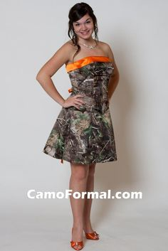 I want this dress SOOO bad for band/senior banquet. Camo Dress, Mothers Dresses, Short Prom, Homecoming Dresses, Corset, Wedding Gowns, Strapless Dress, Formal Dresses, Banquet