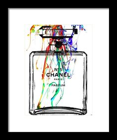 Chanel No. 5 Watercolor Framed Print by Daniel Janda. All framed prints are professionally printed, framed, assembled, and shipped within 3 - 4 business days and delivered ready-to-hang on your wall. Choose from multiple print sizes and hundreds of frame and mat options.