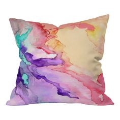 DENY Designs Rosie Brown Color My World Polyester Throw Pillow
