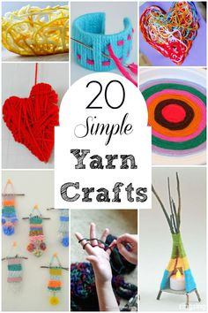 Awesome crafts using yarn for kids. Perfect winter crafts using yarn. #yarn #crafts #winter #art #homeschool