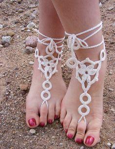 crochet anklet - Google Search