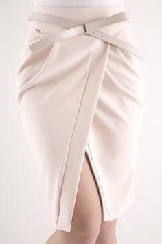 Итальянская юбка тюльпан с запахом 3