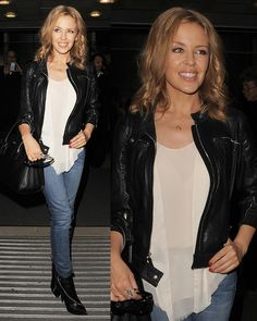 Kylie Minogue Works Casual Cool with Giuseppe Zanotti Boots Kyle Minogue, Kylie Minogue Hair, Giuseppe Zanotti Boots, Zanotti Heels, Lovely Dresses, Beautiful Outfits, Occasion Wear, Celebs, Celebrities
