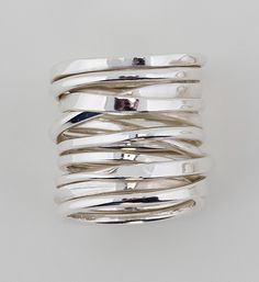 A ring made from two feet of hand forged silver wire. Ooh!
