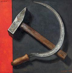 Soviet Art, Soviet Union, Black Widow Aesthetic, Hammer And Sickle, Socialist Realism, Art Folder, Cool Knives, Communism, Russian Art