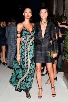 See the best dressed attendees at all of last night's most fashionable NYC parties: Anais Mali & Giovanna Battaglia