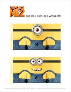 Despicable Me 2 printable Wrappers that fit around a twinkie. I also say where you could just draw the Minion on the Twinkie wrapper with a sharpie marker.