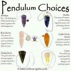 Pendulum choices