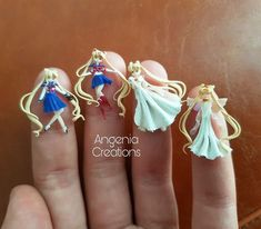 polymer clay miniature dolls -Mini Usagi - Polymer clay figurine doll