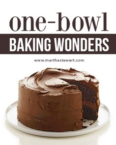 One-Bowl Baking Wonders | Martha Stewart Living - Maybe like us you love to bake, but perhaps cleanup isn't such a favorite pastime? To make sure you enjoy quality cake-making time and minimize the washing up, we've gathered some of our favorite recipes for cakes, brownies, bar cookies, and muffins that require only one bowl -- or sometimes just a mixer or food processor. All streamline the work and save on cleanup without scrimping on taste.