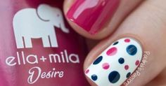 Pin by Sonia Aires on Unhas   Pinterest   Nail design, Ring finger and Polka dots