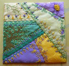 I ❤ crazy quilting . . . Textile Calendar- April ~by Zlata Ratskevich