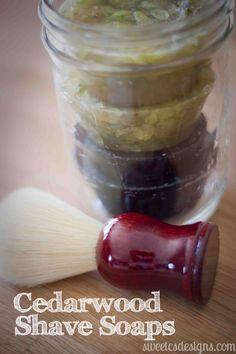 Homemade shaving soap. Great idea for a homemade gift for men.