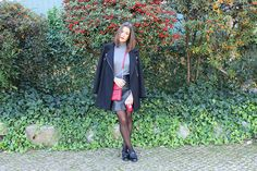 Leather Skirt, Knit, Red Bag, Outfit, Look, Street Style, Fashion, Fashion Blog