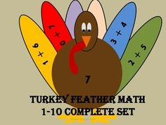 Allow your students to practice basic addition facts in a fun and festive way with Turkey Feather Math. This activity allows students to manipulate feathers with all of the addition facts for a specific sum, which is on the turkey's belly. The students must match the correct feathers to the turkey.