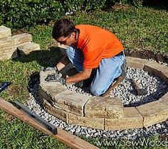 How to Build an Outdoor Fire Pit...good thing i have my handy man for this stuff!