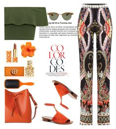 """""""Untitled #414"""" by jovana-p-com ❤ liked on Polyvore featuring Etro, WearAll, Tory Burch, Lodis, Denman and Oliver Peoples"""