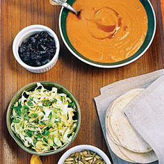 Pumpkin Tacos with Mexican Slaw and Chilis