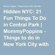 Central park zoos and 1950s on pinterest for What fun things to do in new york