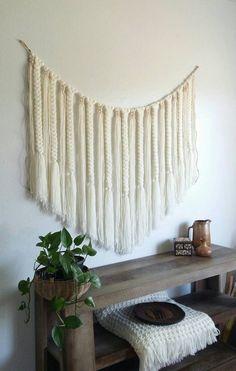 Yarn wall hanging/Large/ Macramé wall hanging/ by UpTheWallflower