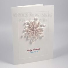 Paper Zen: Quilling Christmas Snowflake Card (1 of 5)