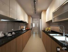 Kitchen ideas galley small cupboards Ideas for 2019 Open Kitchen And Living Room, Kitchen Room Design, Interior Design Kitchen, Kitchen Decor, Kitchen Designs, Kitchen Ideas, Kitchen Layout, Interior Ideas, Kitchen Wall Cabinets