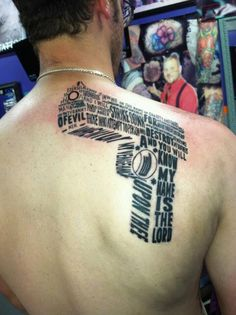 Probably the only gun tattoo I will ever post; the words are from Samuel L. Jackson's character in Pulp Fiction