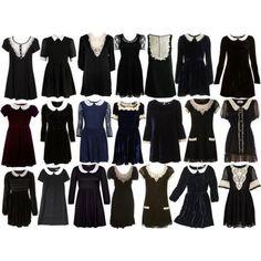 dress velvet collar kinderwhore black victorian dress
