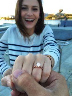 My engagement ring! I love this photo!   Tacori rose gold oval