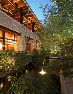"""Light up the backyard so there won't be a big black hole outside your windows."" —Joni Webb, cotedetexas.blogspot.com   - HouseBeautiful.com"
