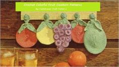 Amazon.com: Crochet Colorful Fruit Coasters - Fun Fruit Shaped Coasters to Crochet - Grapes, Oranges and Pears to Crochet eBook: Craftdrawer Craft Patterns,