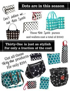 Right on, thirty one. Right on. https://www.mythirtyone.com/SinfullyChicBags/